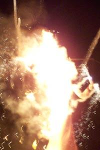 Zozobra explodes