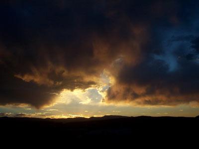 Sunset near Edgewood, New Mexico